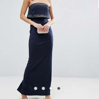 ASOS navy maxi dress