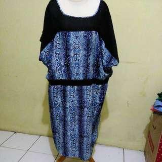 Dress Biru Ular