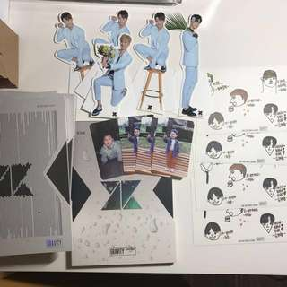 KNK GRAVITY ALBUM PC STANDEE STICKER