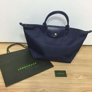 ❤️正品Longchamp planters  法國巴黎outlet 代購 1623 短柄m (藍)