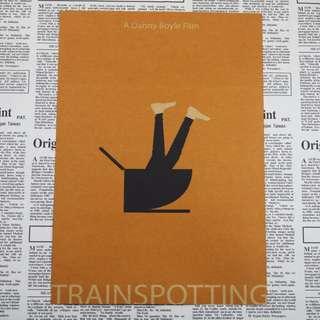 <猜火車> 現+預 Trainspotting 英國經典電影海報復古牛皮紙海報 房間佈置 酒吧裝飾