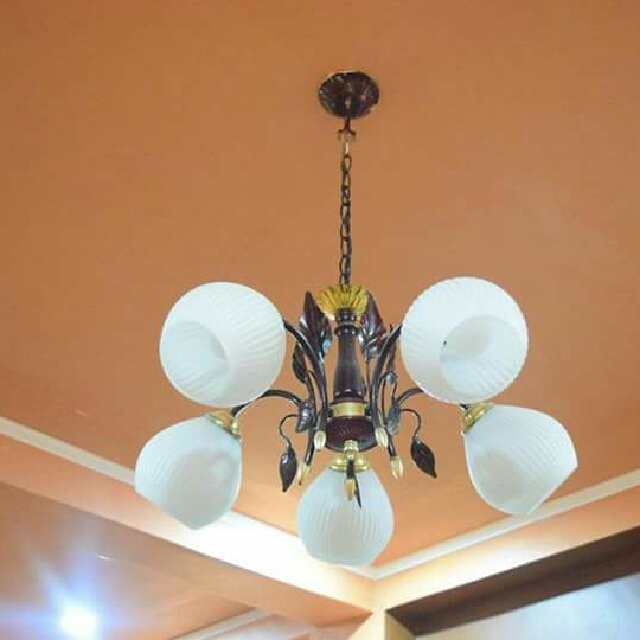 5-bulb Chandelier Type Lighting Fixture
