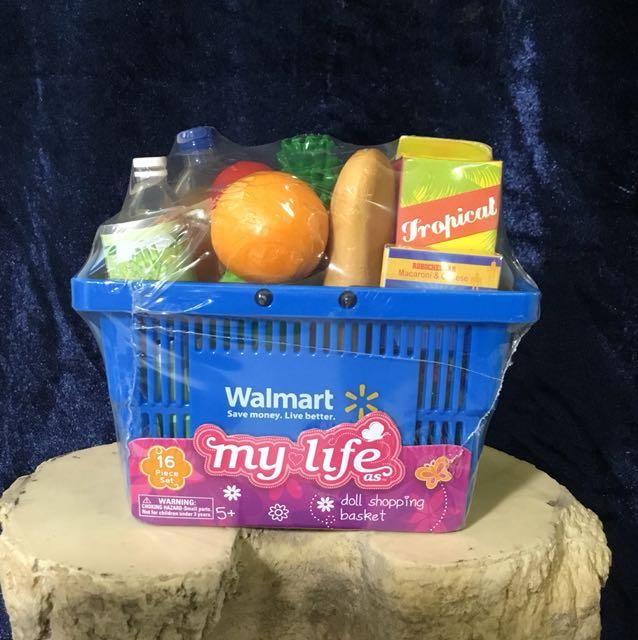 迷你美國沃爾瑪超市購物籃(玩具模型)