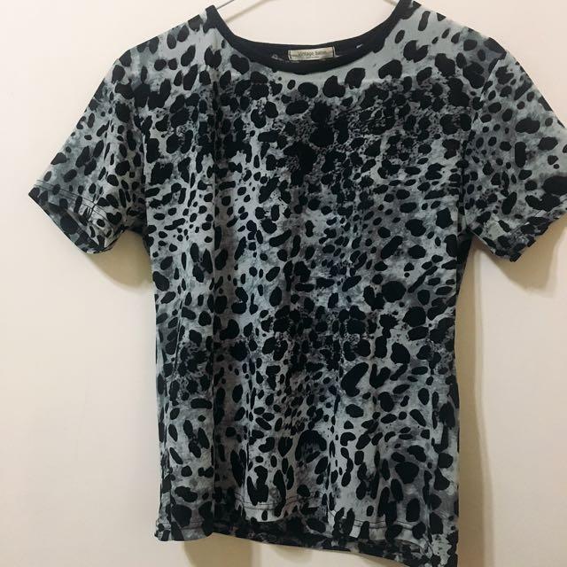 韓國豹紋雪紡上衣