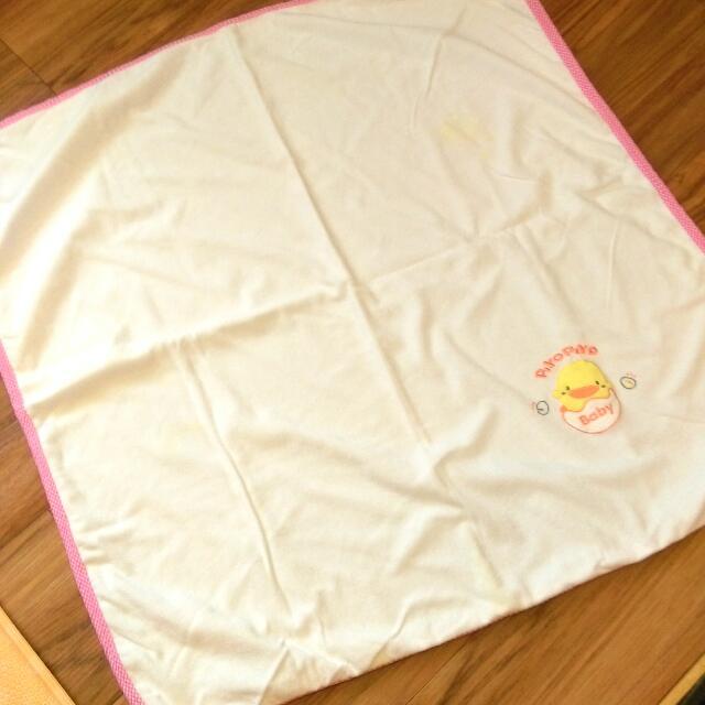 黃色小鴨雙面新生兒包巾