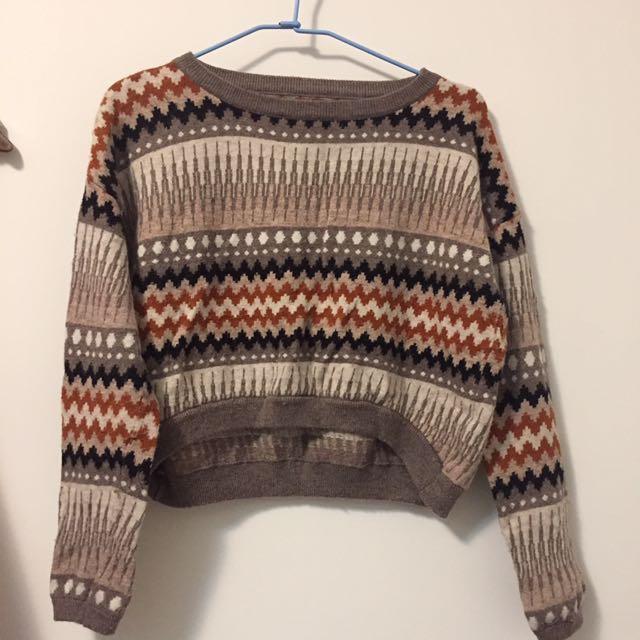 紋路針織毛衣