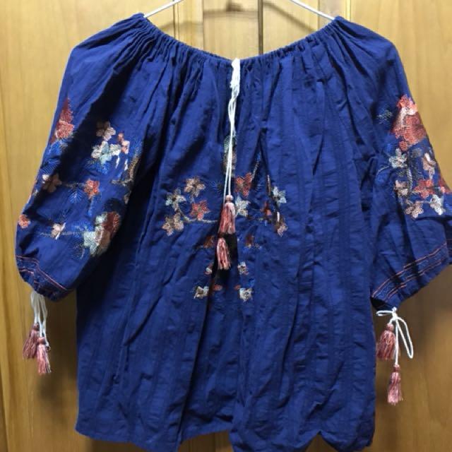刺繡小花 韓系衣物