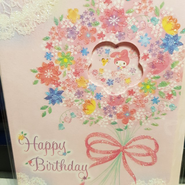 My Melody Sanrio Birthday Card Books Stationery Magazines