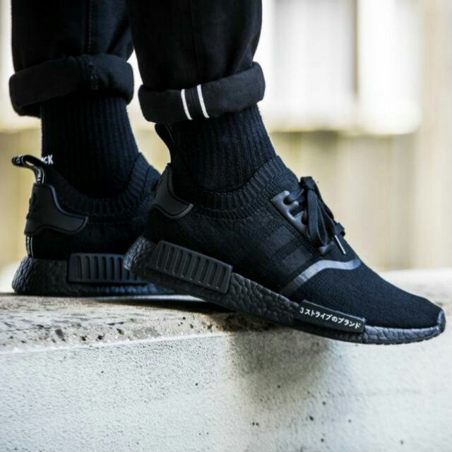 Adidas Nmd R1 Primeknit Triple Black Japan Men S Fashion