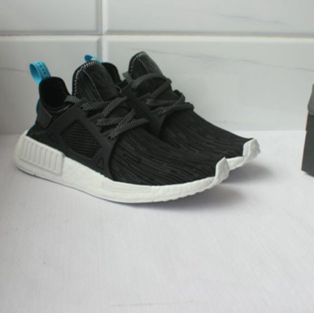 detailed look 6c6b6 5b7fd Adidas NMD XR1 UTILITY BLACK BRIGHT BLUE