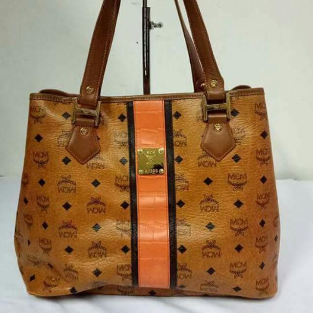 Auth MCM Tote bag