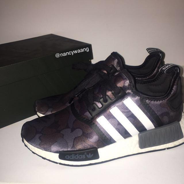 online retailer 97cd4 009c4 Authentic Bape x Adidas NMD R1 Black Camo, Men's Fashion ...