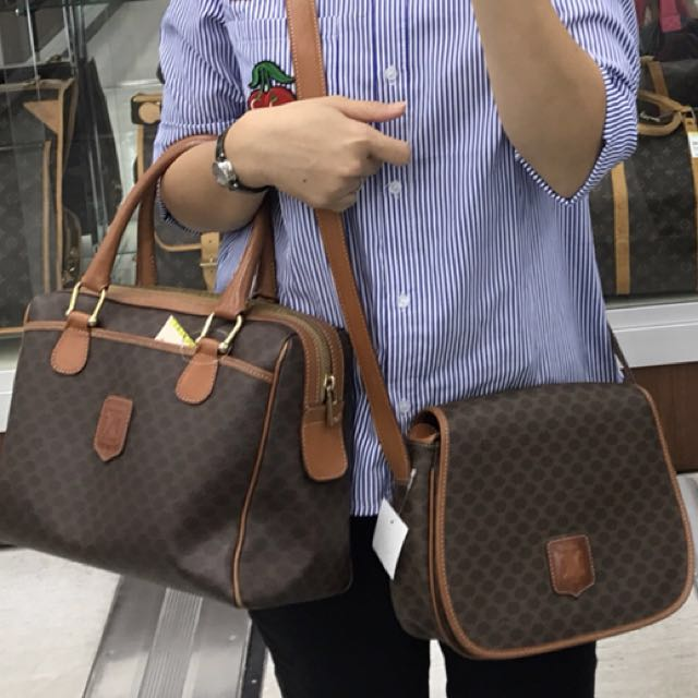 7642ae42f25 Authentic Celine Vintage Sling bag and Boston Bag, Women s Fashion, Bags    Wallets on Carousell