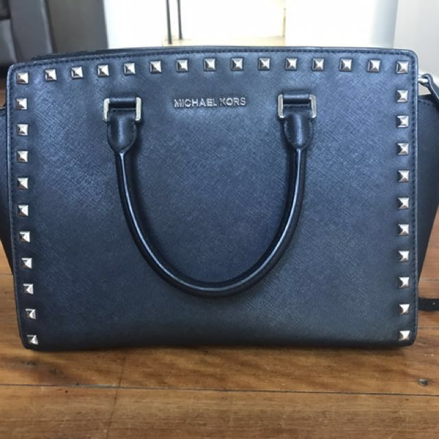 AUTHENTIC Michael Kors Black Studded Bag