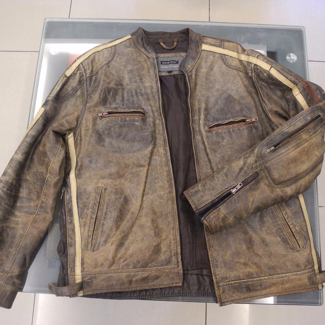 76db99670 Aviatrix UK Leather Jacket Limited Edition 1 Unit