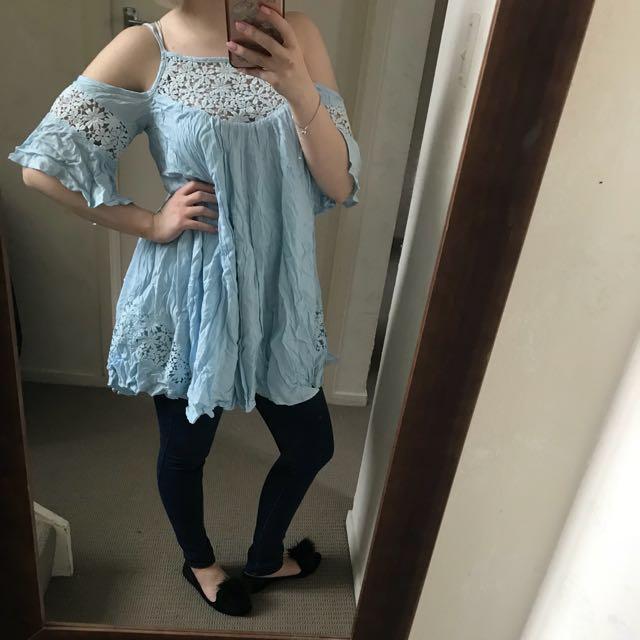 Baby blue top/dress