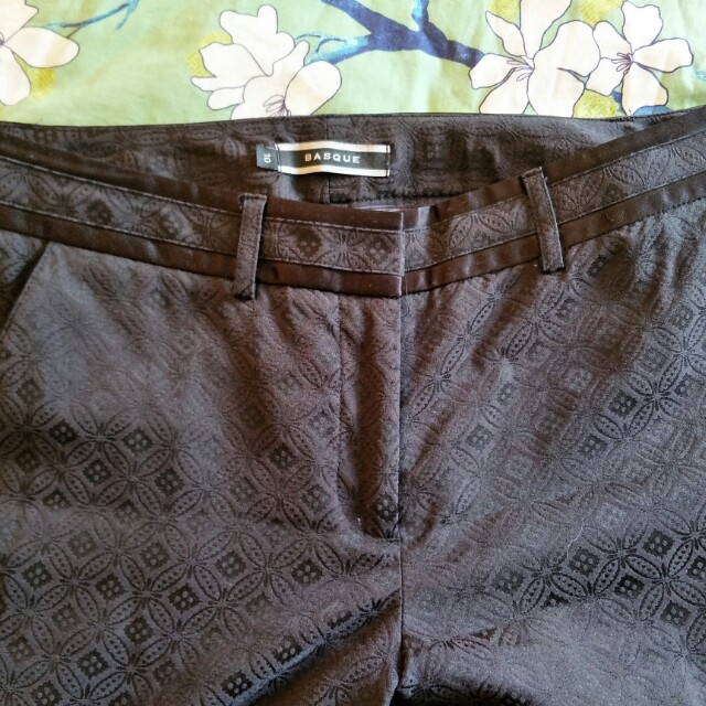 Basque Jacquard pants NWOT