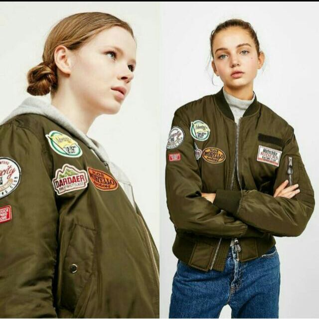 bershka bomber patch