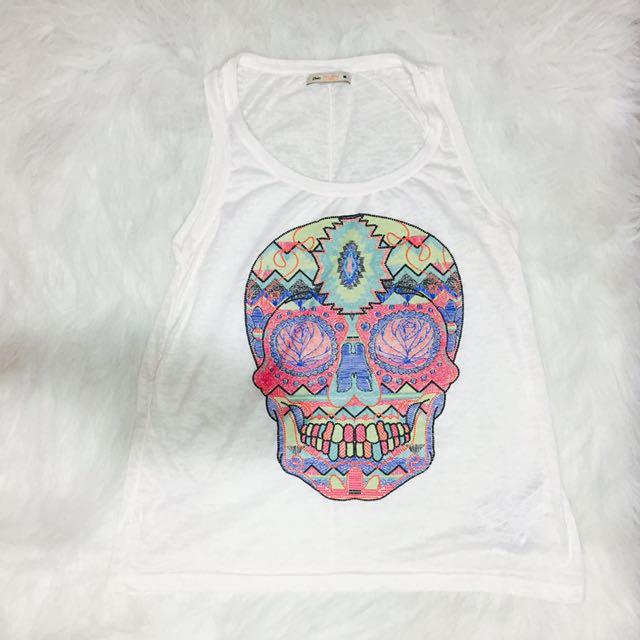 Bershka Skull Sleveless