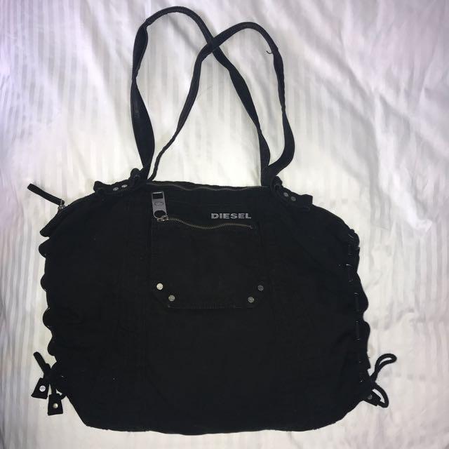 Black Diesel Fabric Bag