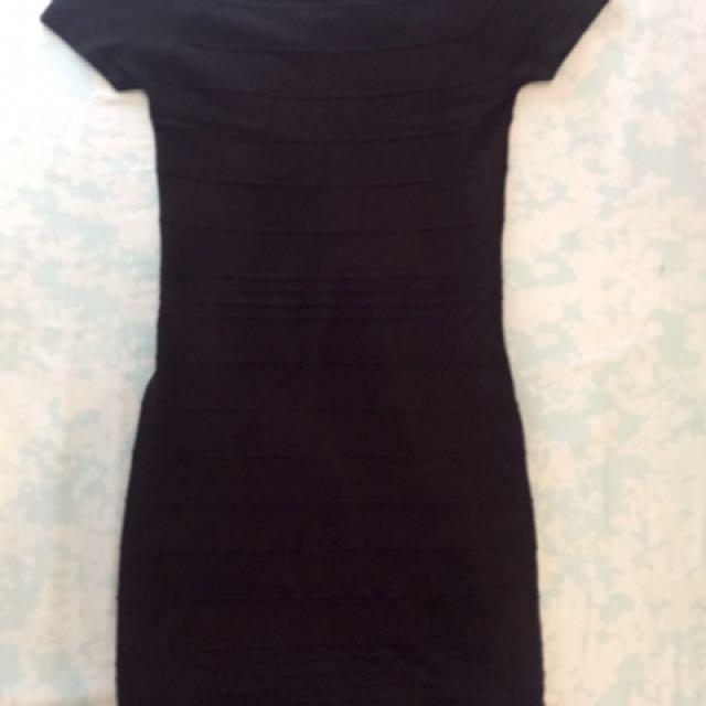 Black Knitted Dress