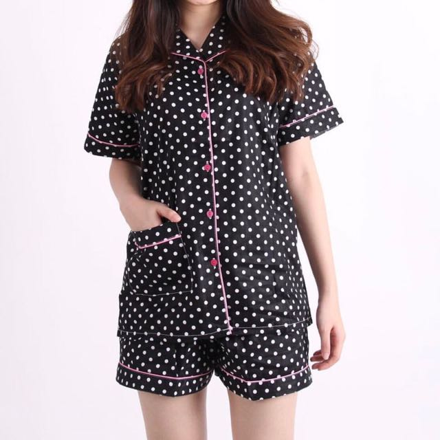 Black Polka Pajamas (short-pants)