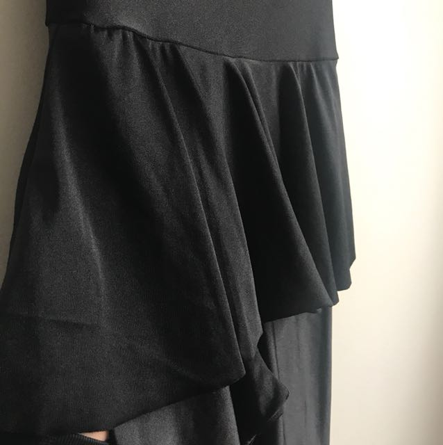 Black Silk Tutu Jumpsuit