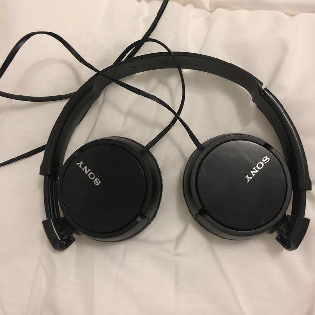 Black Sony Headphones