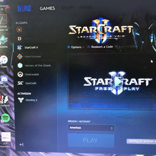 Blizzard account with overwatch Starcraft and abit of cashing in hearthstone