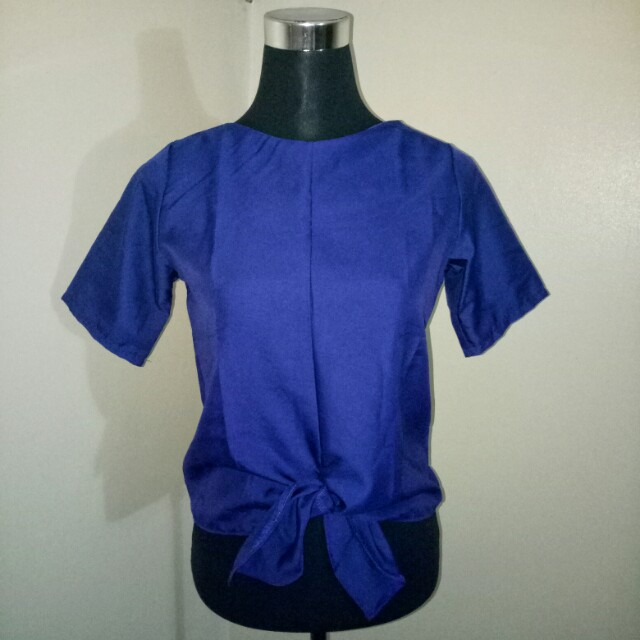 Blue and Purple Blouse with a knot