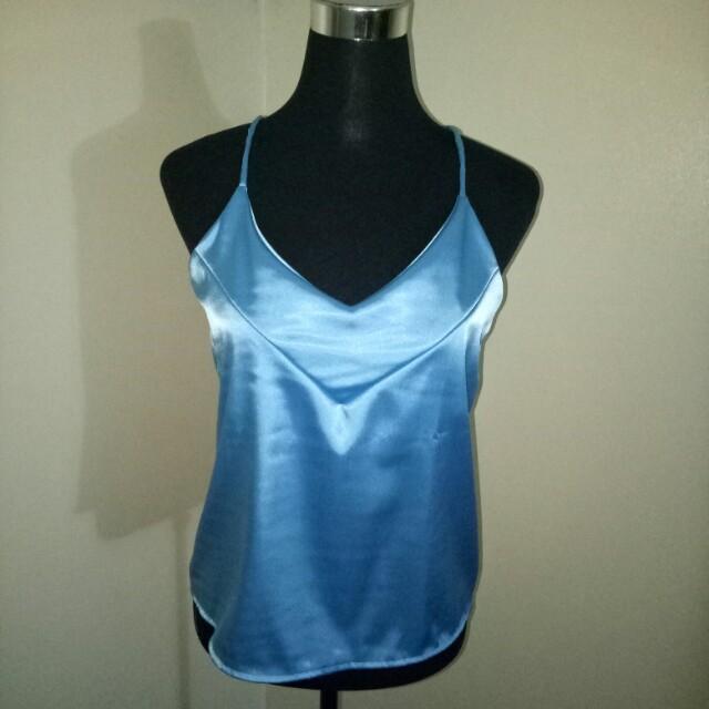 Blue Silk Cami