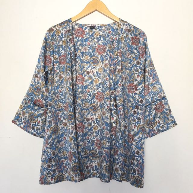 Blue flow batik outer