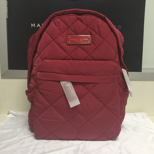 397ef4328e804 BN Authentic Marc Jacobs Quilted Nylon Backpack Crimson