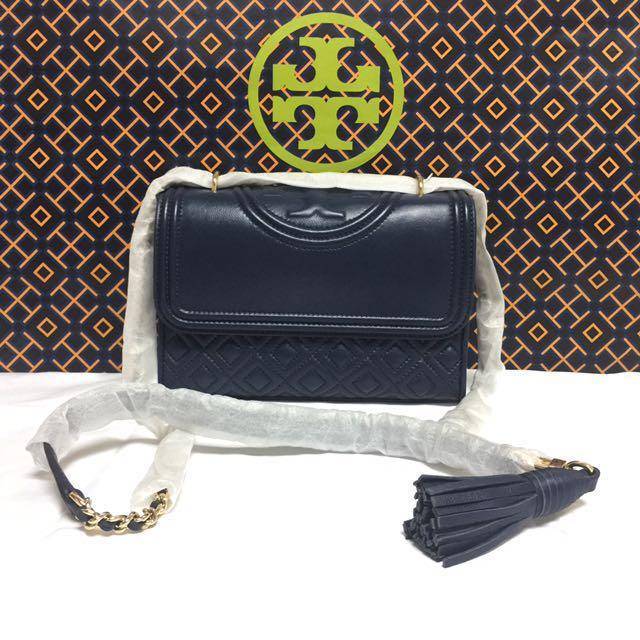 0bc5f87c41d BN Authentic Tory Burch Fleming Small Convertible Shoulder Bag Royal ...
