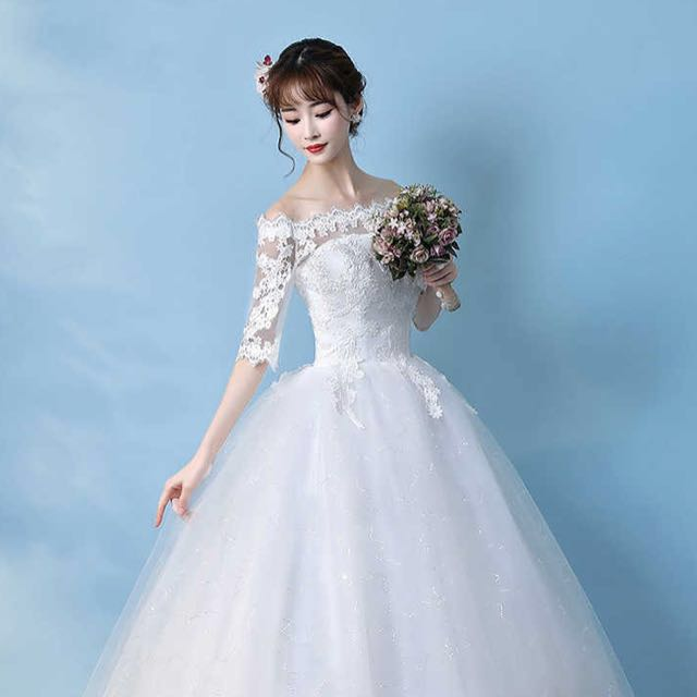 Brand New Classy Wedding Gown With Sleeve Up To 3xl Size Po