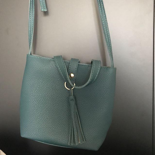 Brand new green bag