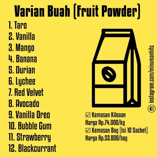 Bubuk Minuman Varian Rasa Buah (Drink Powder), Food & Drinks, Non-Alcoholic Beverages on Carousell