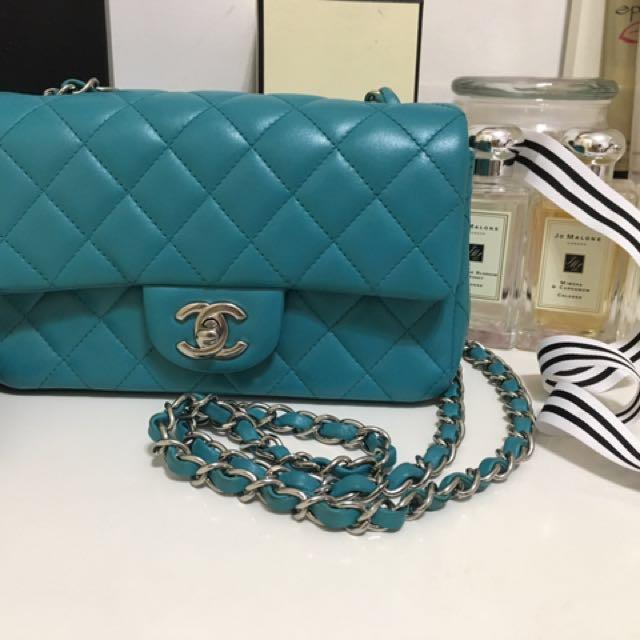 Chanel coco20cm 孔雀藍