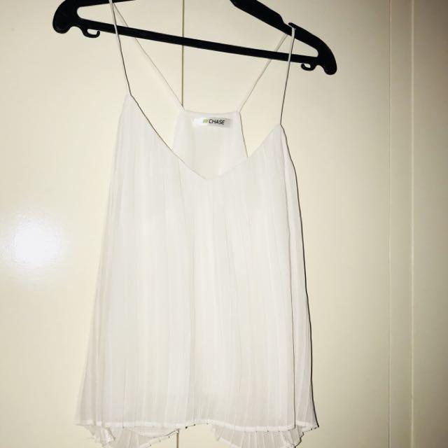 CHASE white sleeveless