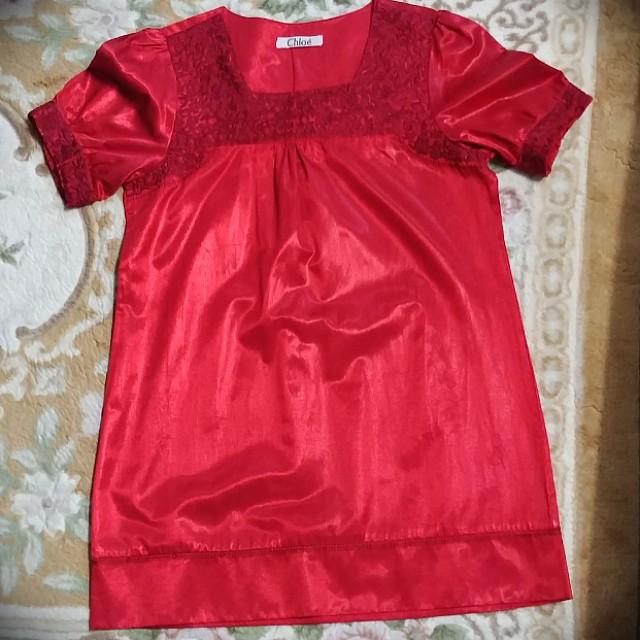 CHLOE dress merah