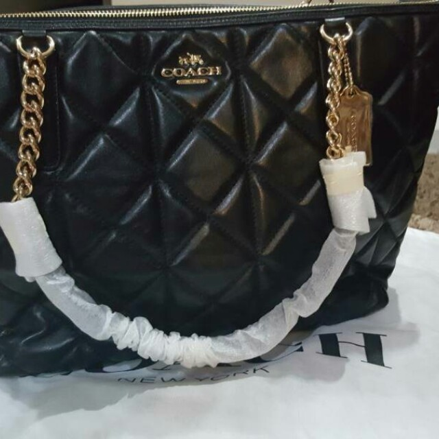 Coach Quilted Leather Ava Chain