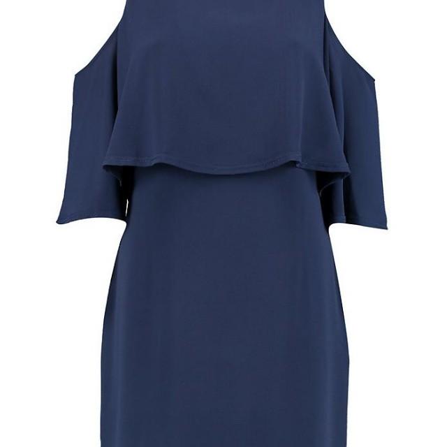 Cold shoulder double layer dress