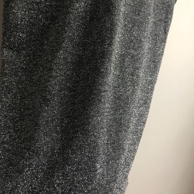 Cute Silver Glitter Singlet
