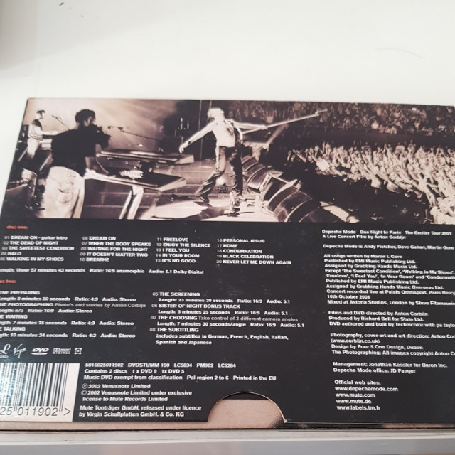 Depeche Mode One Night In Paris Dvd