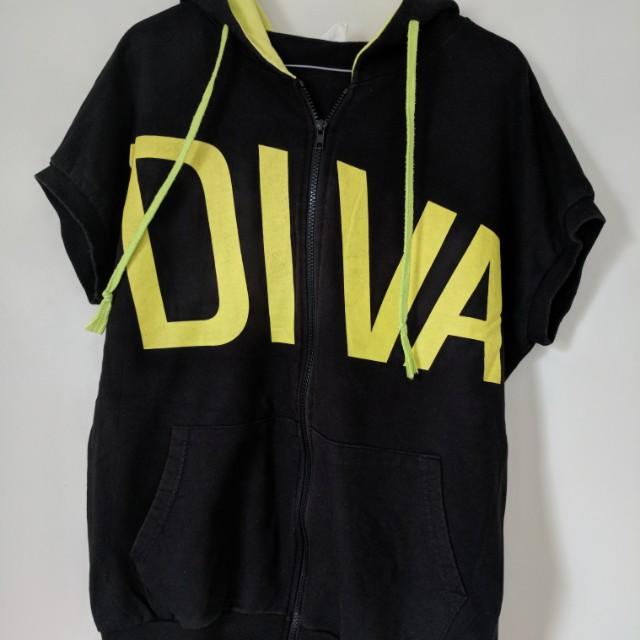 Diva gym hoodie sz 8