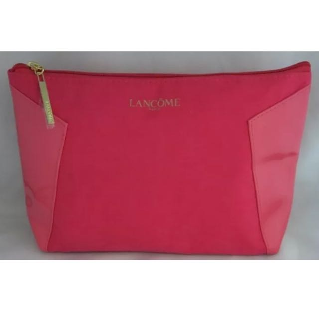 EJ MOM20:  NEW  AUTHENTIC  LANCOME  COSMETIC CASE -PINK TRIM
