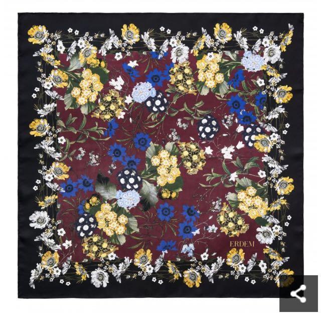 Erdem x HM floral silk scarf