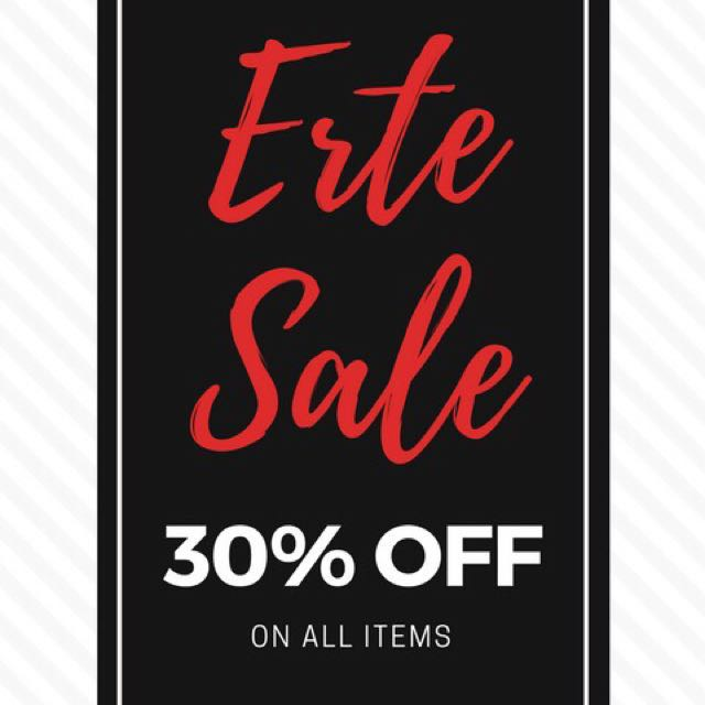 ERTE SALE ALERT! (Dress, top and blouse at 30% off)