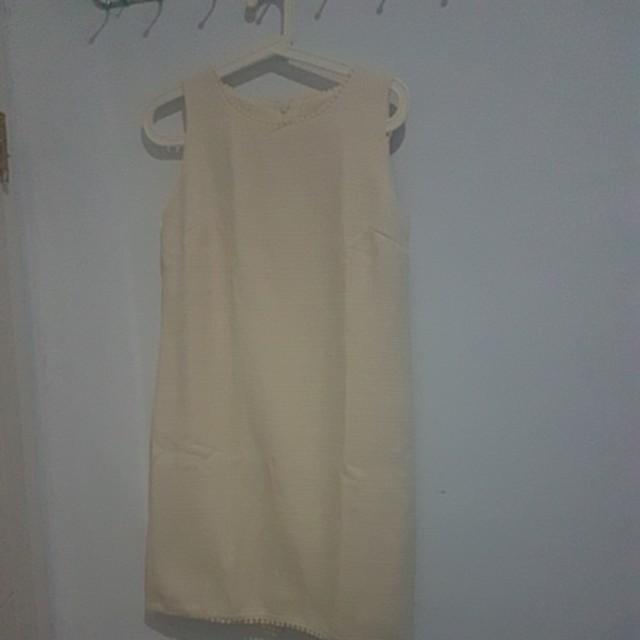 ET CETERA broken white dress