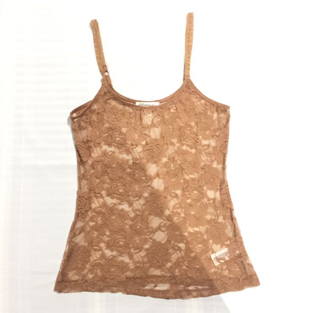F21 Lace Sheer Tank Top